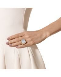 Monica Vinader - Metallic Baja Square Ring - Lyst