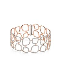 Monica Vinader | Pink Riva Diamond Cluster Cuff | Lyst