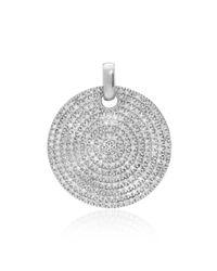 Monica Vinader - Metallic Medium Ava Diamond Pendant - Lyst