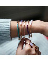 Monica Vinader - Pink Linear Large Plain Ring - Lyst