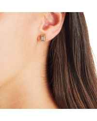 Monica Vinader - Metallic Baja Deco Stud Diamond Earrings - Lyst