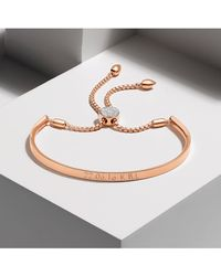 Monica Vinader | Pink Fiji Diamond Toggle Bracelet | Lyst