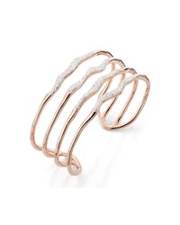 Monica Vinader | Multicolor Riva Diamond Hero Wave Cuff | Lyst