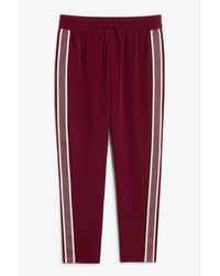Monki - Red Sporty Trousers for Men - Lyst