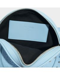Balmain Disco Bag In Pale Blue Calfskin