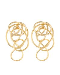 Joanna Laura Constantine - Metallic Gold Plated Knot Ear-jacket Earrings - Lyst