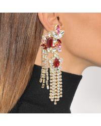 Shourouk - Multicolor Double Leafs Earrings - Lyst
