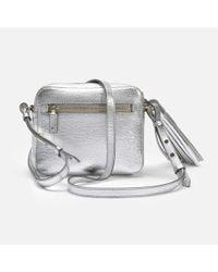 Anya Hindmarch - Crossbody Smiley Bag In Metallic Capra - Lyst