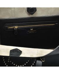 Anya Hindmarch - Black Ebury Shopper Smiley Bag In Circus - Lyst