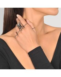 Valentino - Multicolor Frog Set Of 5 Rings - Lyst
