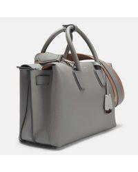 MCM - Multicolor Milla Medium Tote Bag In Grey Park Avenue Leather - Lyst
