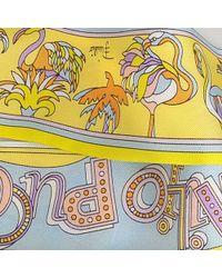 Emilio Pucci - Multicolor 5x2x120 Cm Twilly Scarf In Miami Lemon Twill - Lyst