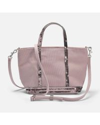 Vanessa Bruno - Multicolor Canvas And Sequins Baby Tote Bag In Powder Cotton - Lyst