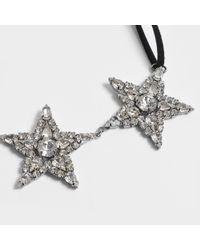 Helene Zubeldia - Multicolor Ribbon Choker Necklace With Crystal Stars - Lyst
