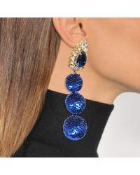 Shourouk - Blue Disco Earrings - Lyst