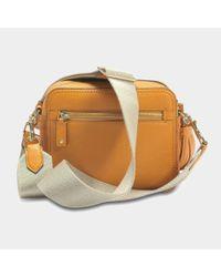 Anya Hindmarch - Orange Crossbody Smiley Bag In Metallic Capra - Lyst