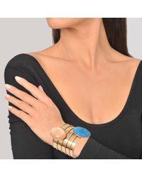 Sylvia Toledano   Blue Twins Pink Gold Cuff   Lyst