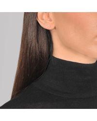 Ginette NY - Metallic Mini Diamond Clip Earrings - Lyst