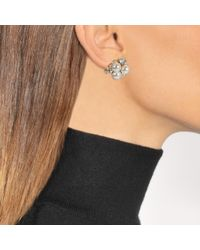 Anton Heunis - Multicolor Pearl And Flower Asymmetric Earrings In White And Crystal Metal - Lyst