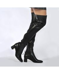 21f546e39d6 Tory Burch Laila Over The Knee Boots in Black - Lyst