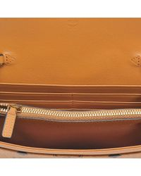 MCM - Multicolor Large Wallet On Chain In Cognac Visetos - Lyst