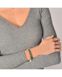 Marc Jacobs - Multicolor Double J Enamel Printed Chain Cuff Bracelet In Black Enamel - Lyst