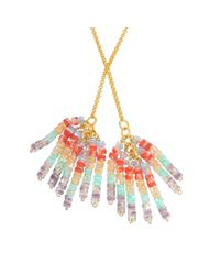 Aris Geldis - Multicolor Tie Sautoir With Multicoloured Beads - Lyst