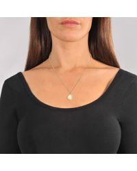 Marc Jacobs - Multicolor Logo Disc Pendant Necklace In Cream - Lyst