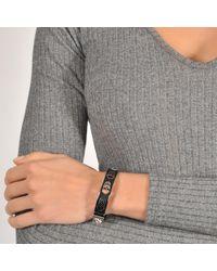 Alexander McQueen Metallic Small Pierced Bangle Bracelet