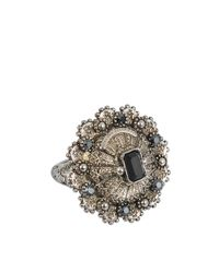 Alexander McQueen | Multicolor Brass Jewelled Ring | Lyst