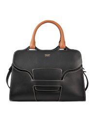 Giorgio Armani | Black Ecurie Medium Bag | Lyst