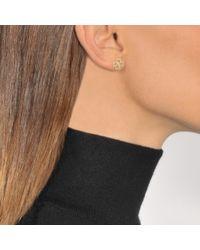 Aurelie Bidermann - Metallic Fine Jewellery - 18k Clover Single Earring With Diamond - Lyst