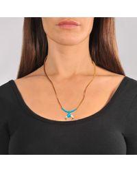 Aurelie Bidermann - Blue Takayama Necklace With Bakelite Gold Horn - Lyst