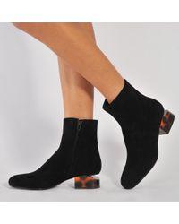 Alexander Wang | Black 'kelly' Tortoise Heel Boots | Lyst