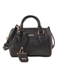 DKNY   Black Chelsea City Zip Mini Round Satchel Bag   Lyst