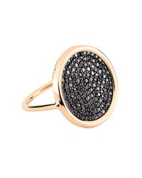 Ginette NY - Metallic Large Black Diamond 18-karat Rose Gold Disc Ring - Lyst