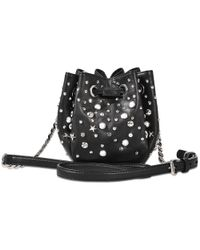 Karl Lagerfeld - Black K Rocky Studys Small Shoulder Bag - Lyst