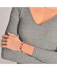 Valentino - Red Rockstud Bracelet - Lyst