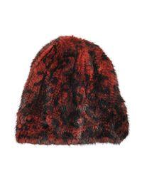 Yves Salomon | Multicolor Mink Knitted Fur Beanie Leopard | Lyst