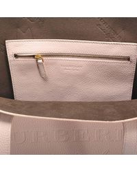 Burberry - Pink Large Remington Tote Bag In Pale Ash Rose Grained Calfskin - Lyst