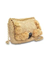 Vanessa Bruno - Multicolor Moon Shoulder Bag In Natural Raffia - Lyst