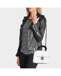 Burberry - Multicolor Small Dk88 Top Handle Bag In Chalk White Embossed Calfskin - Lyst