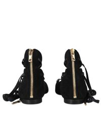 Burberry - Black Hiles Lace Up Ballerina - Lyst