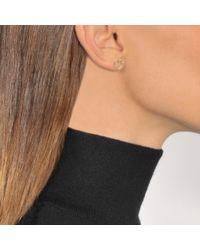 Aurelie Bidermann - Metallic Fine Jewellery - 18k Love Single Earring With Diamond - Lyst