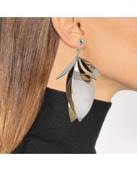 Proenza Schouler - Metallic Full Leaf Earrings - Lyst