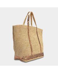 Vanessa Bruno - Multicolor Raffia And Sequins Large Tote Bag In Caramel Raffia - Lyst