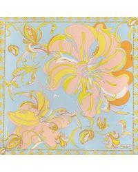 Emilio Pucci - Multicolor 90x90 Cm Aruba Print Scarf In Lemon Twill Silk - Lyst