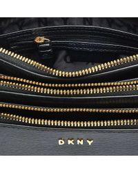 DKNY - Black Sutton Triple Zip Crossbody - Lyst