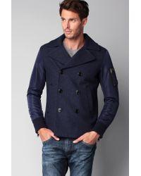 DIESEL   Blue Coat for Men   Lyst
