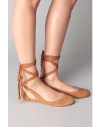 Sigerson Morrison | Brown Ballerina Flat And Mary Jane | Lyst